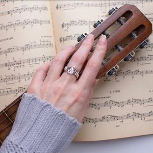 Jewelry - 🎼 We Are the Music Makers Sterling Silver Ring